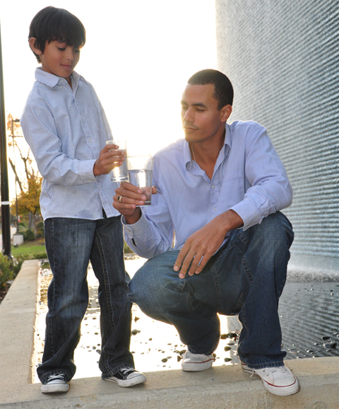 Sean Gordon - President of Air to Water and his son Lil G